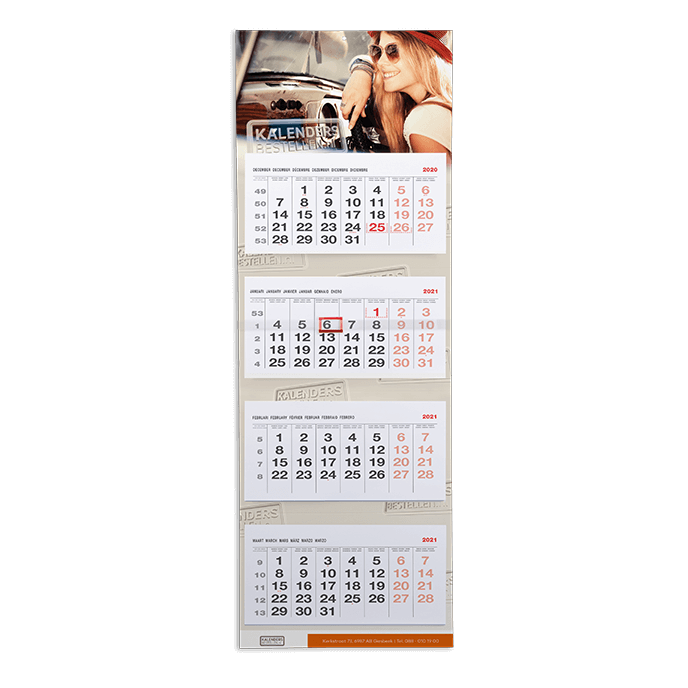 4-maandkalender Kalendersbestellen